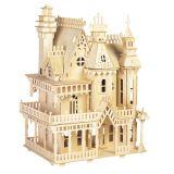 Dřevěné skládačky 3D puzzle slavné budovy - Vila DH004