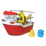 Green Toys - Záchranná loď s helikoptérou