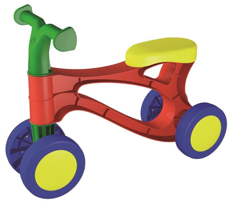 Dřevěné hračky Lena Rolocykl červený