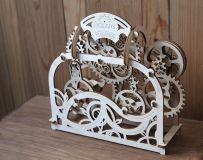 Dřevěné hračky Ugears Dřevěná stavebnice 3D mechanické Puzzle Divadlo