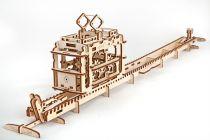 Ugears Dřevěná stavebnice 3D mechanické Puzzle Tramvaj