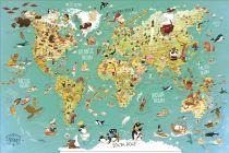 Dřevěné hračky Vilac Nástěnná magnetická mapa světa