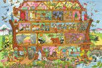 Dřevěné hračky - Puzzle Noemova archa 48 dílků