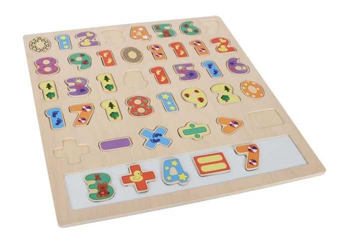 Dřevěné hračky Small Foot Velké puzzle Počítání Small foot by Legler