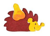 Dřevěné vkládací puzzle z masivu - vkládačka - Malý ježek