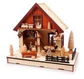 Vánoční dekorace - Lampa Dílna na hračky
