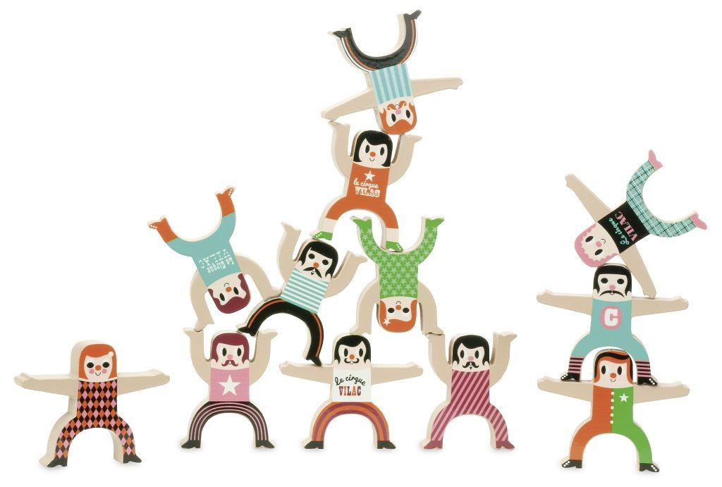 Dřevěné hračky Vilac Dřevěné postavičky akrobati