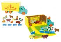 Vilac - Dřevěný set farmy v autě
