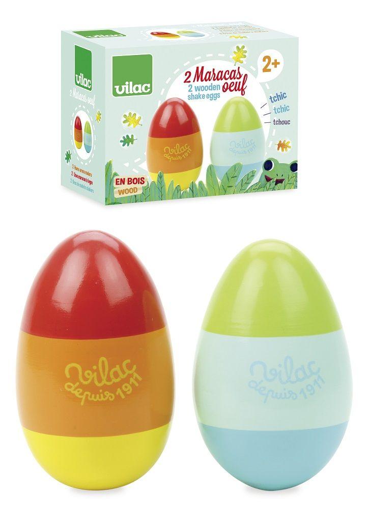 Dřevěné hračky Vilac Rumbakoule vajíčka Woodland