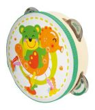 Small Foot Dětské dřevěné hudební nástroje tamburína Funny medvěd
