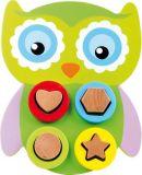 Small Foot Dřevěná hračka motorická sova