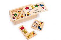 Dřevěné hračky - dřevěné hry -  Domino farma menší