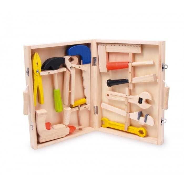 Dřevěné hračky Small Foot Kufřík dřevěné nářadí Lino Small foot by Legler