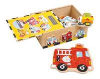 Dřevěné puzzle-Box Vozidla