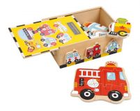 Small Foot Dřevěné puzzle Box vozidla