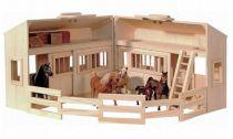 Dřevěné hračky - Stáj