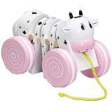 Dřevěné hračky HJ Toys Tahací kravička