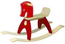 Dřevěné hračky Wonderworld Dřevěný houpací kůň červený