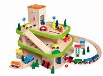 Garáž třípodlažní s příslušenstvím - new design Woody
