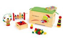 Small Foot Motorické hračky truhla s 6 motorickými hračkami