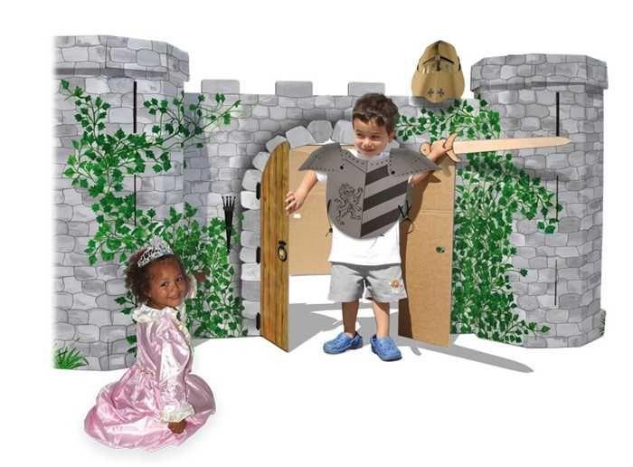 Dřevěné hračky Small Foot Rytířský hrad Avalon z pevné lepenky Small foot by Legler