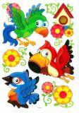 Samolepící dekorace na zeď - Papoušci