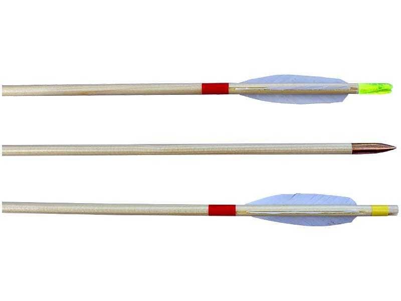 Dřevěné hračky Šíp dřevěný EXTRA 8/600mm, peří Lazecký