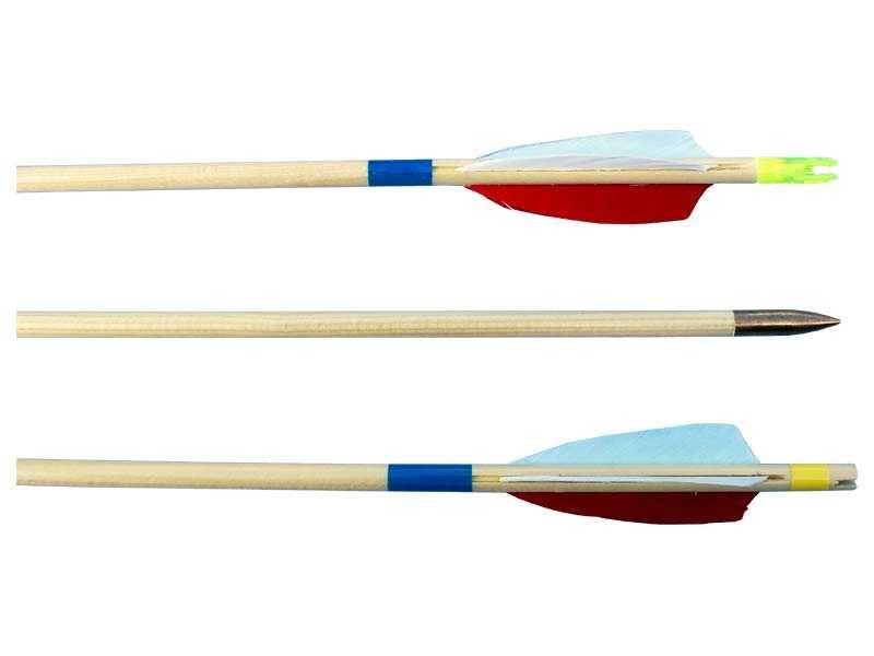 Dřevěné hračky Šíp dřevěný EXTRA 8/760mm, peří Lazecký