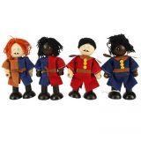 Dřevěné hračky Bigjigs Toys Set středověkých vojáků 4ks
