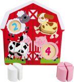 Small Foot Dřevěná hračka puzzle Zvířata na farmě