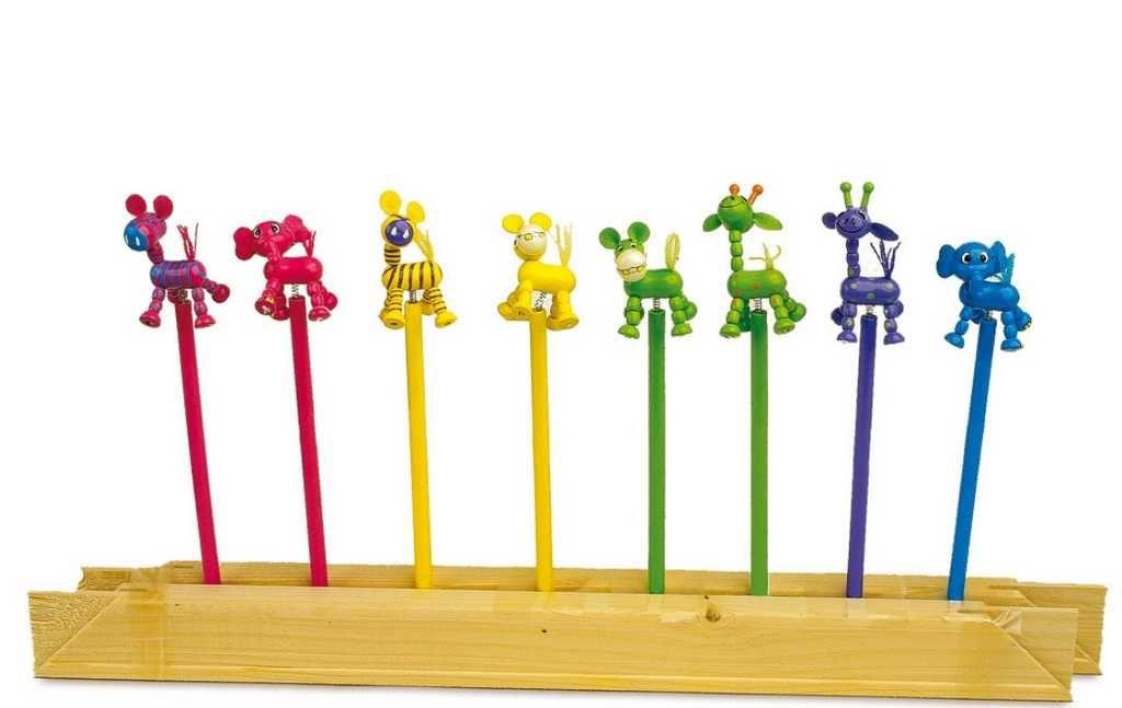 Dřevěné hračky Small Foot Dřevěná tužka postaviček Afrika 1 ks Small foot by Legler