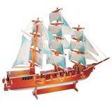 Dřevěné hračky Dřevěné 3D puzzle lodě - dřevěná skládačka Plachetnice PC049 Woodcraft construction kit