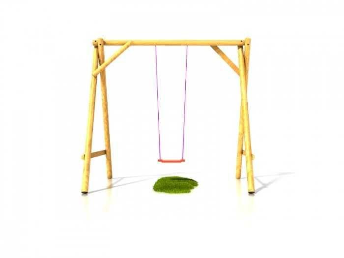 Dřevěné hračky Dřevěné dětské hřiště - Stavebnice dětská houpačka Vítek