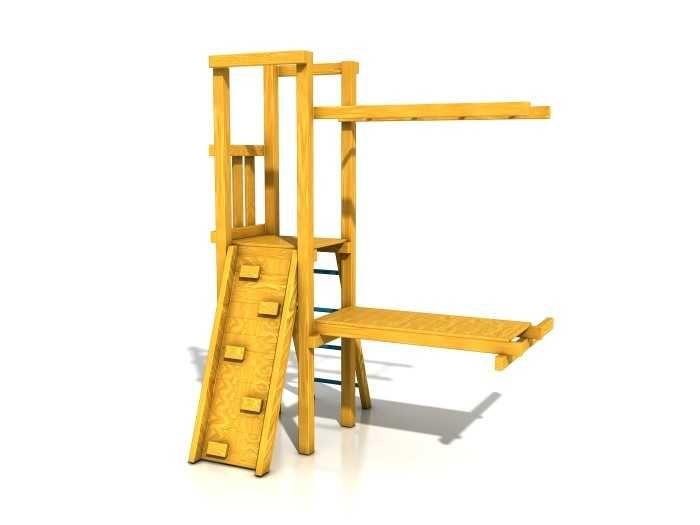 Dřevěné hračky Dřevěné dětské hřiště - Stavebnice - Modul Šikula PA