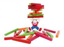 Dřevěné hračky - motorické dřevěné hry - Balancující zebra