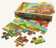 Dřevěné hračky Dřevěné hračky - Puzzle v krabičce - doprava Bino