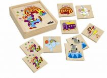 Dřevěné hračky Woody - Pexeso Mašinka - cirkus