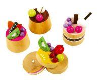 Dřevěné ovocné dortíky
