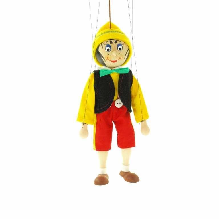 Dřevěné hračky Dřevěné velké loutky - Pinocchio Česká dřevěná hračka