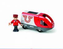 Vláček vláčkodráhy - Elektrická lokomotiva červeno-bílá