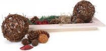 Bytové dekorace - Dekorativní talíř Ratan