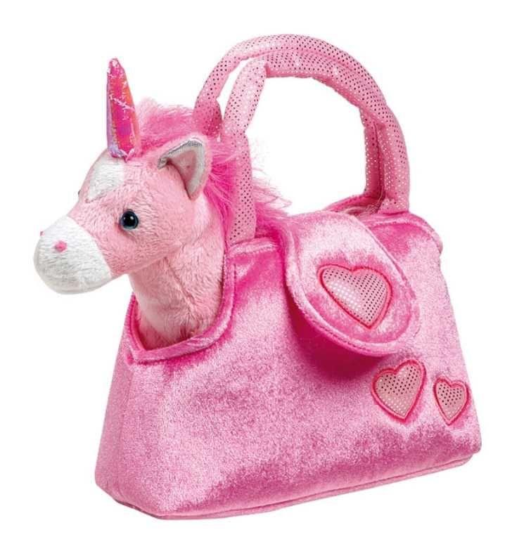 Dřevěné hračky Small Foot Dětská růžová kabelka jednorožec v kabelce Fina Small foot by Legler