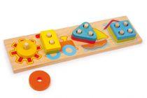 Dřevěná motorická hra - 4 tvary
