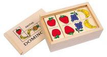 Dřevěné hračky - dřevěné hry - Domino Ovoce