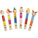 Dřevěné hračky Bino Dřevěné hudební nástroje píšťalka s pístem