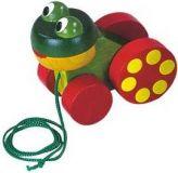 Dřevěné hračky Detoa Tahací žabka