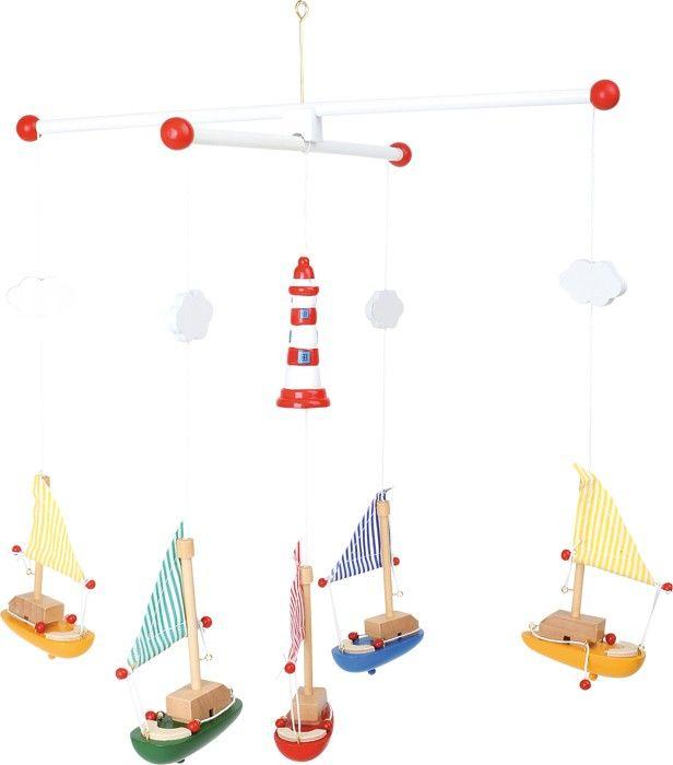 Dřevěné hračky Small Foot závěsný kolotoč plachetnice s majákem Small foot by Legler