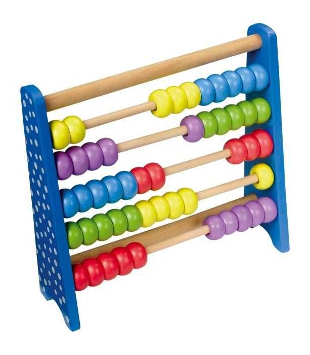 Dřevěné hračky Small Foot Dřevěné školní pomůcky kuličkové počítadlo barevné Small foot by Legler