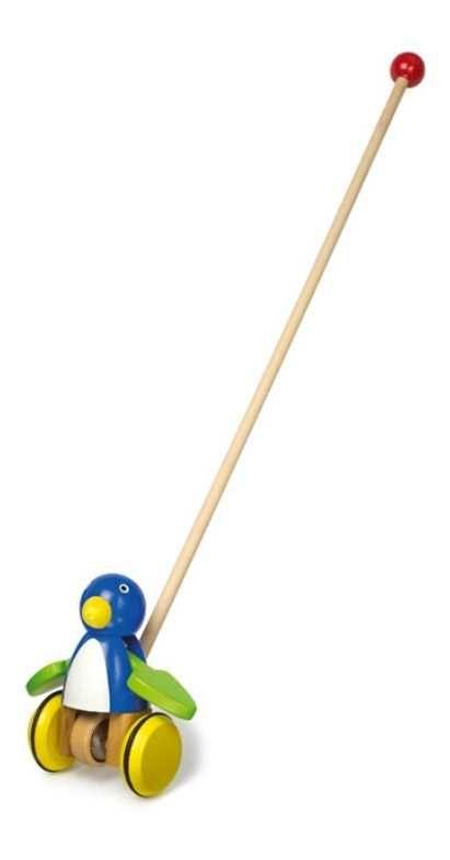 Dřevěné hračky Small Foot Jezdík modrý pták s mávajícími křídly Small foot by Legler