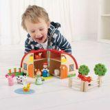 Dřevěné hračky Bigjigs Toys Farma v kufříku